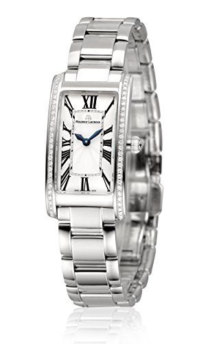 Maurice Lacroix Fiaba Ladies Rectangular Quartz Uhr, Silber, FA2164-SD532-118-1