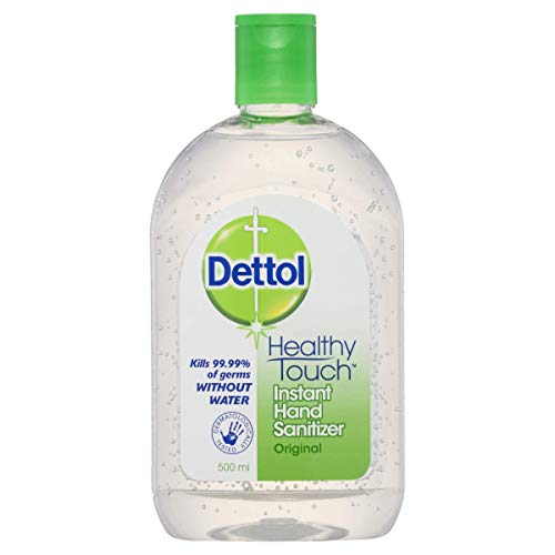 Dettol Healthy Touch Liquid Antibacterial Instant Hand Sanitiser Original, 500ml