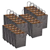 Mxzzand Bolsa de Papel Kraft Exquisita ecológica para Mujeres para IR de Compras(Black)
