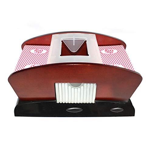 gouxia74534 Kartenmischer Elektrisch, 2 Decks, Kartenmischmaschine zum Mischen von Karten
