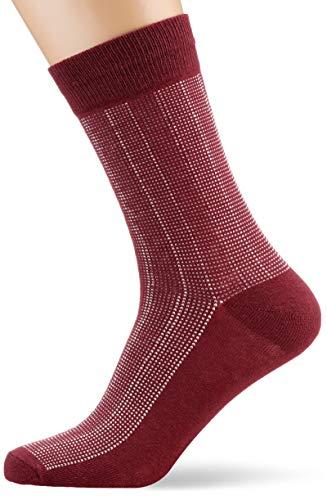 JACK und JONES Herren JACBASIC NOOS Socken, Rot (Port Royale Port Royale), (Herstellergröße: One Size)