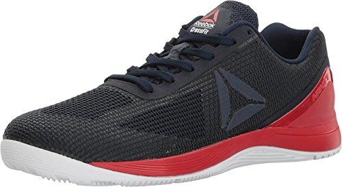 Reebok Crossfit Nano 7.0 Cross-Trainer, Zapatillas de Entrenamiento elíptico Hombre, Collegiate Navy Primal-Camiseta, Color Rojo, Blanco y Negro, 46 EU