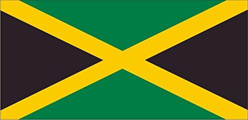 Autoaufkleber / Aufkleber Fahne A-LS76G Jamaica - Jamaika 50 cm farbig / bunt - glatt - INDIGOS UG