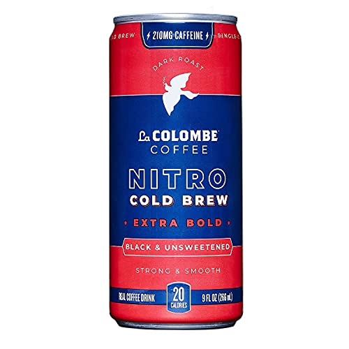 La Colombe Cold Brew Coffee - Nitro Extra Bold - 9 Fluid Ounce, 12 Count – Dark Roast, Singe-Origin - Made With Real Ingredients - Grab and Go Coffee
