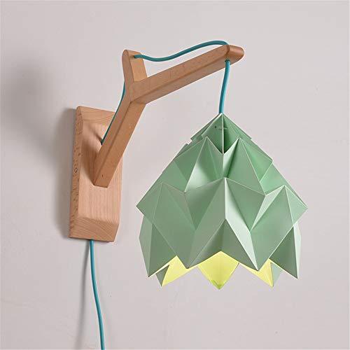 Nordico moderno macaron personalità creativa lampadario decorativo lampada origami studio casa camera da letto lampada da parete lampada e27