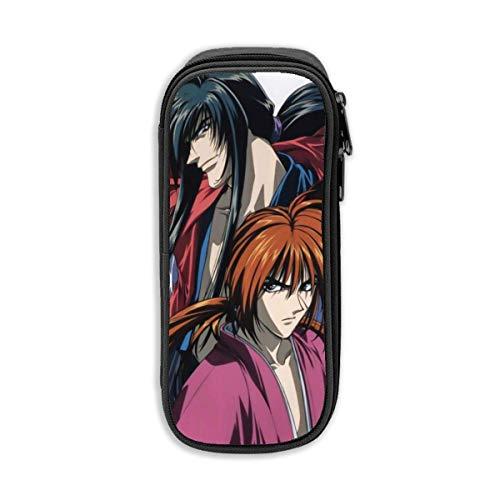 Ary - Bolsa organizadora portátil con doble cremallera para niñas, Rurouni Kenshin Manga Hiko Seijuro Himura Kenshin, la bolsa de maquillaje de viaje