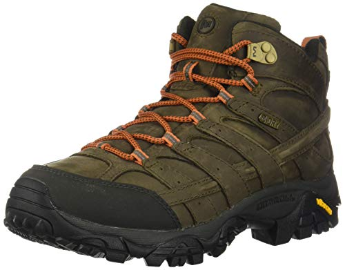 Merrell Men's Moab 2 Prime MID Waterproof Hiking Boot, Canteen, 9.5