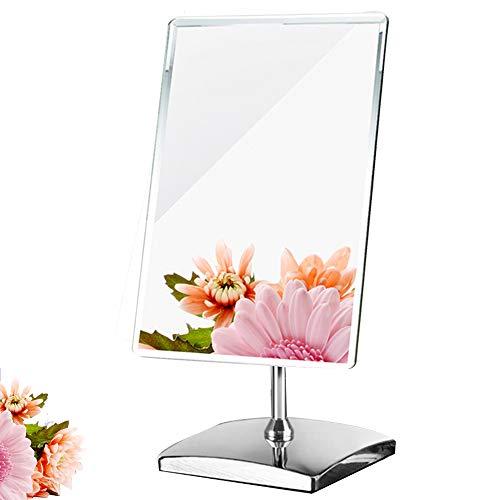 """Makeup Spiegel Tischspiegel,elegant,rechteckig,rahmenloses Design für Schlafzimmer Tisch oder Badezimmer, groß, Nicht vergrößernd, Taille: 9.8""""x 7.0"""" x12.8, Glas-Spiegelung, Chrom-Finish"""