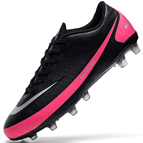 DimaiGlobal Zapatillas de Fútbol Hombre Profesionales Training Botas de Fútbol Spike Aire Libre Atletismo Zapatos de Entrenamiento Zapatos de Deporte 39EU Negro