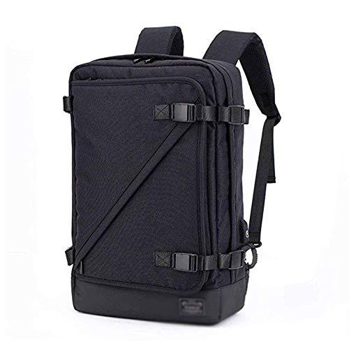 SJNW ビジネスコンピューターバッグ ポートを充電USB 旅行ダッフルバッグスポーツジムダッフルバックパック軽量クロスボディバレルバッグ防水ノートパソコンのバックパック (Color : Black)