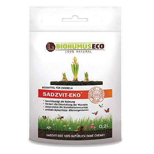 SADZVIT-EKO Beizmittel für zwiebeln, natürlich ohne Chemie, BIOHUMUSECO 100% Natural, 0,2 l, Weiß