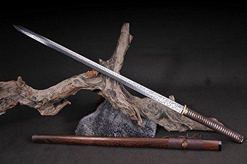 FARDEER Handgemachte chinesische Longquan Schwert Hohes Hochmanganstahl Achtseitigen Riss Hanjian nicht offene Kante TJ-32