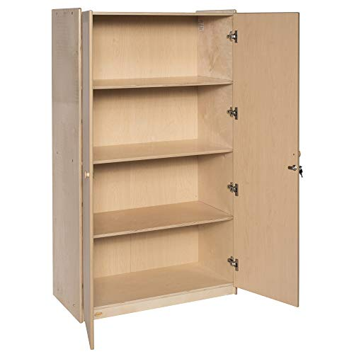 """Children's Factory - ANG7178 Angeles Value Line Teacher's Storage Cabinet 36' x 19"""" Locking Supply Cabinet with 3 Adjustable Shelves, Easy-Pull Knobs, Storage on Top - Easy to Assemble and Clean"""