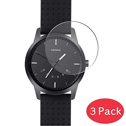 VacFun 3 Piezas Vidrio Templado Protector de Pantalla Compatible con Lenovo Watch 9 Smartwatch Smart Watch, 9H Cristal Screen Protector Película Protectora Reloj Inteligente