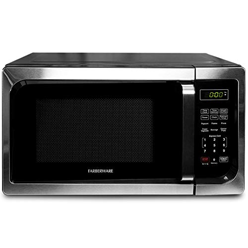Farberware Classic FM09SSE 900-Watt Microwave Oven, Stainless Steel, 0.9 Cu.Ft