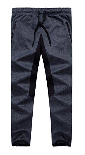 Grimgrow Boy's Jogger Pants Slim Skinny Cotton Running Harem Pants Elastic Dark Grey 7