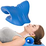 Cervical Traction Device for Neck Pain Relief, Neck Stretcher for TMJ Pain Relief, Neck and Shoulder Relaxer for Cervical Spine Alignment, Massager for Muscle Relax and Stiffness, Chiropractic Pillow