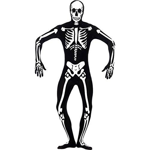 NET TOYS Seconde Peau Halloween Squelette Fluorescent Homme Costume de Squelette Costume d'halloween Costume d'horreur Tenue de Squelette M 50/52