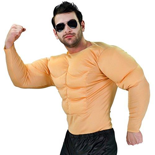 SEA HARE Erwachsenes Bodybuilder Muskel-Kostüm der Männer