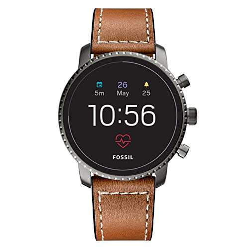 Kartice Compatible with Fossil Gen 5 Mens Carlyle Leather Band Fossil Women Gen 5, Classic 22mm Band for Fossil Gen 4 Q Explorist HR Band (Brown)