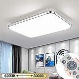 JINPIKER 72W Dimmbare Energieeinsparung LED Deckenleuchte Flur Wohnzimmer Küche Badleuchte