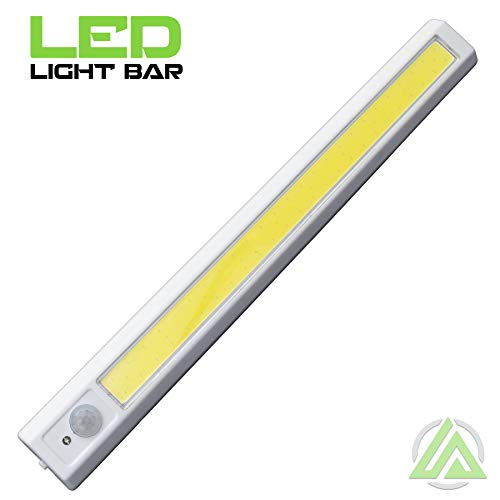 LitezAll Motion Activated Wireless Jumbo Light Bar with Magnetic Base - 250 Lumen - 4 AA Batteries Included - Detects Movement up to 10 feet - Sticks Virtually Anywhere