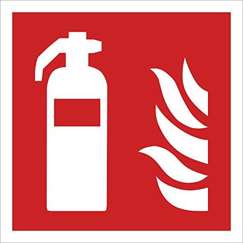 Feuerlöscher Brandschutzzeichen Symbol Aufkleber Nachleuchtend ASR A1.3 200 x 200 mm