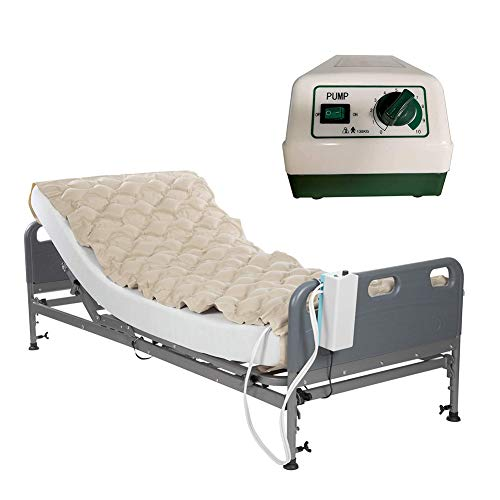 KUYT Meridian Alternating Pressure Mattress Air Bubble Pad Includes Mattress and Quiet Electric Pump System Fits Standard Hospital Bed for Pressure Ulcer Sore Treatment