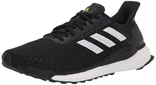adidas Men's Solar Boost 19 Running Shoe, Black/White/Signal Green, 11.5