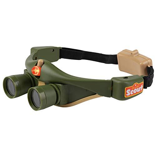 Nachtsichtgerät - Nachtsicht Brille für Kinder - Fernglas - Entdecker Set mit Licht - ideal zum Tiere beobachten Abenteuer - grün - Experimentier Box Kinder Outdoor Spielzeug Wandern Camping Ausflug
