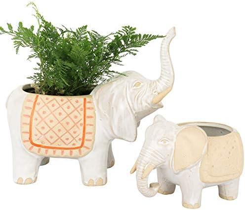 Ceramic elephant planter _image3