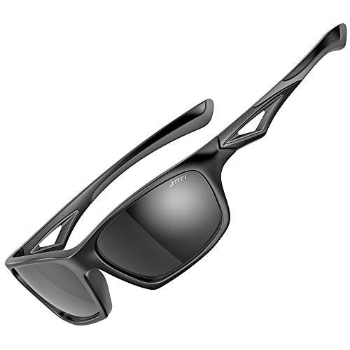 ATTCL Gafas de sol deportivas polarizadas para niños Gafas de sol anti UV400 para niñas y niños de 3 a 10 años JDRW001 ALL-Black