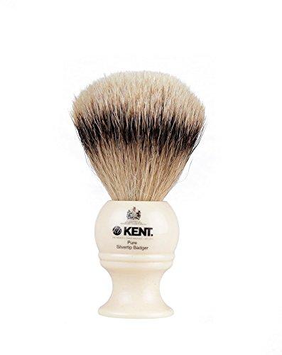 KENT BK4 Shaving Brush, Handcrafted Silver Tip...