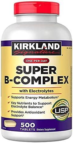 2 Pack-Kirkland Signature Super B-Complex 1000 Max 54% OFF with Electrolytes Popular brand
