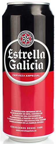 Estrella De Galicia Cerveza - Paquete de 24 x 500 ml - Total: 12000 ml