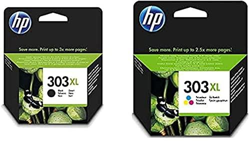 HP 303 XL T6N03AE e T6N04AE Cartucce Originali per Stampanti a Getto di Inchiostro HP Tango e Tango X e HP Envy 6220, 6230, 6232, 6234, 7130, 7134 e 7830, Nero e Tricromia