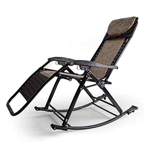 Rocking Chair Patio Zero Gravity Chaises Rocking Chair ing Chaises Inclinables Pliables Réglables avec Oreiller Jardin Extérieur Plage Jardin , Capacité de 440LB (Multicolore)