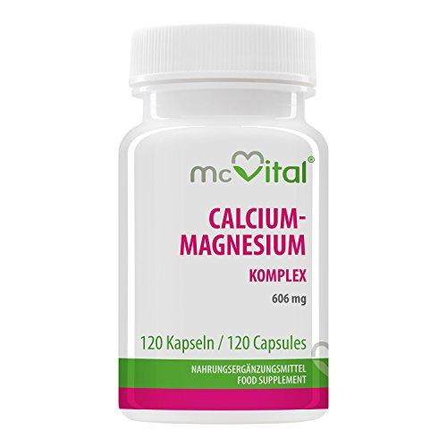 McVital Calcium-Magnesium Komplex • 606 mg • 120 Kapseln • Für die Erhaltung normaler Knochen und Zähne