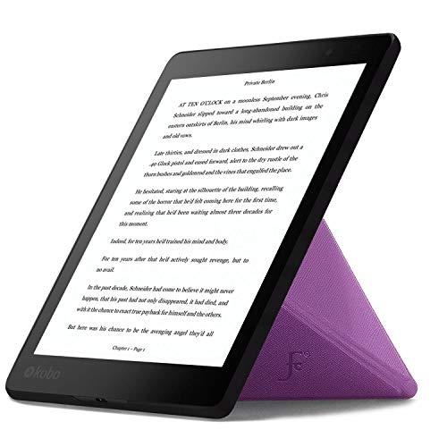 Forefront Cases Hülle für Kobo Aura ONE 7.8 Origami Schutzülle Case Cover & Ständer für - Dünn Leicht, Rundum-Geräteschutz & Auto Schlaf Wach Funktion - Lila