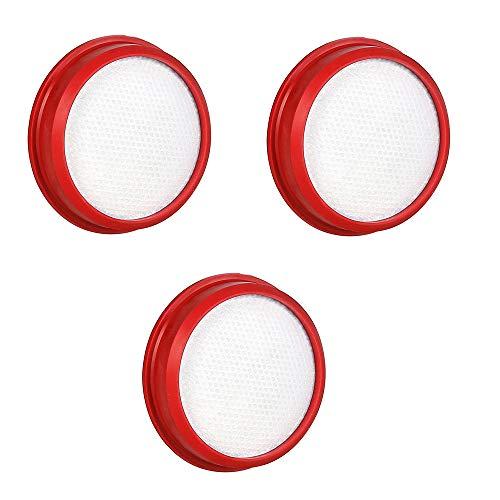 dibea Original waschbarer Filter Ersatz für D18 Staubsauger Medium 3 Stück