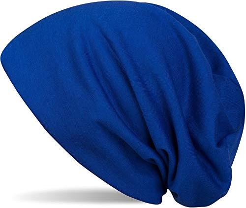 styleBREAKER Klassische Slouch Beanie Mütze, leicht und weich, Longbeanie, Unisex 04024018, Farbe:Royalblau