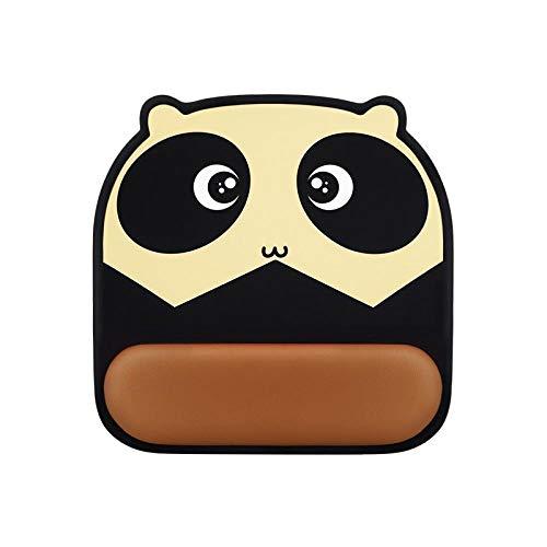 Ergonomische Mausmatte Mauspad aus braunem Panda-Silikon mit Handgelenkstütze und Gel-Handgelenkstütze