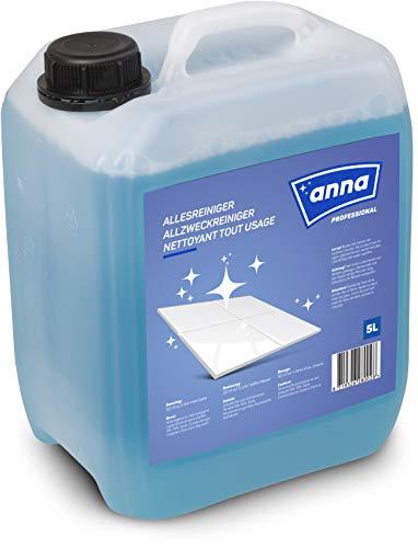 ANNA Professional Allzweckreiniger Kanister, Hygiene Reiniger Boden, reinigt und pflegt stark verschmutzte Oberflächen, Profi Qualität für gewerbliche und private Anwender, Allesreiniger 5 Liter