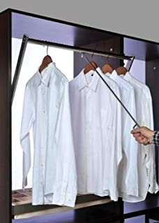 INSPIRE Pull Down Closet Rod, Adjustable up to 42