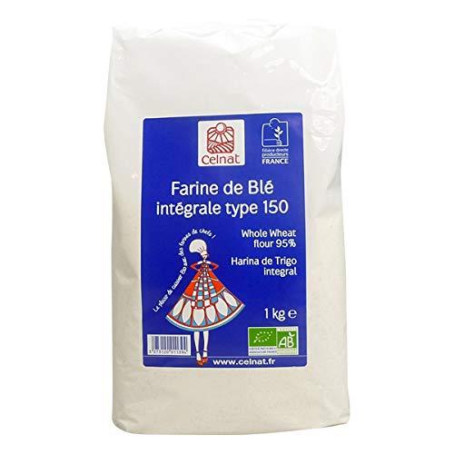 CELNAT - Farine De Blé Intégrale T150 Bio 5 Kg
