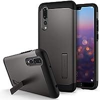 Spigen [Slim Armor Funda Huawei P20 Pro con diseño Delgado de Doble Capa para Huawei P20 Pro (2018) - Metal Slate