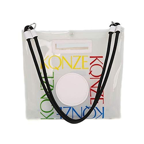 Jinclonder PVC transparante tas gelei tas schoudertas kinder- en moedertas boodschappentas strandtas damesmode handtas waterdichte tas handtas praktische en ruime