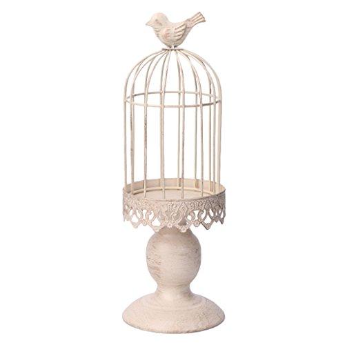 Siwetg - Portacandela in metallo a forma di gabbia per uccelli, ideale come regalo