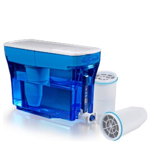 ZeroWater 23-Cup Pitcher with 3 Replacement Filter and Free Water Quality Meter, Blue