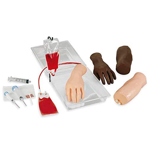 Erler Zimmer Injektionstrainer IV, tragbar, Arm und Hand Übungsmodell, Injektions-Simulator